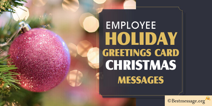 christmas greeting messages for employees holiday